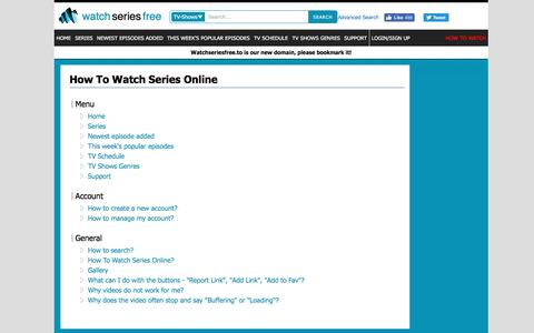 Screenshot of FAQ Page watchseriesfree.to - How to Watch series - Watch Series Free - captured Aug. 27, 2016