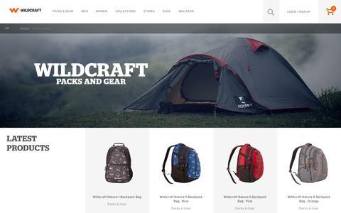Screenshot of wildcraft.in - Packs & Gear Equipments for Hiking and Trekking - Wildcraft - captured March 19, 2016
