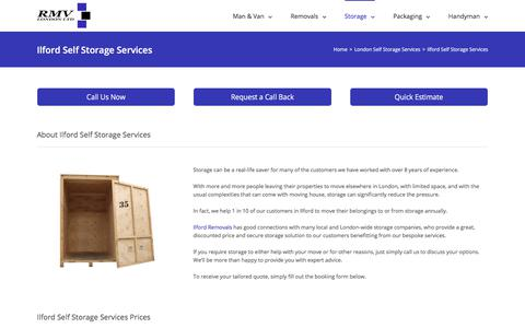 Screenshot of FAQ Page rmvlondon.com - Ilford Self Storage, Secure Unit Containers Hire - captured Feb. 2, 2018