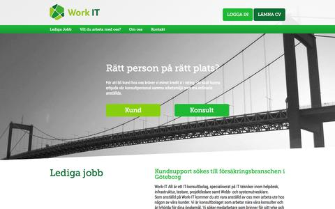 Screenshot of Home Page work-it.se captured Oct. 8, 2014