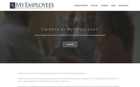 Screenshot of Jobs Page myemployees.com - MyEmployees Careers - captured Sept. 20, 2018