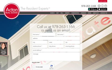 Screenshot of Contact Page acton-realestate.com - Acton Real Estate Company - captured Oct. 3, 2018