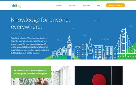 Screenshot of Jobs Page inkling.com - Careers at Inkling - make the world smarter | Inkling - captured Sept. 16, 2014