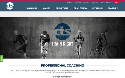 Screenshot of Home Page trainright.com - Carmichael Training Systems Professional Endurance Coaching & Camps - captured May 17, 2017