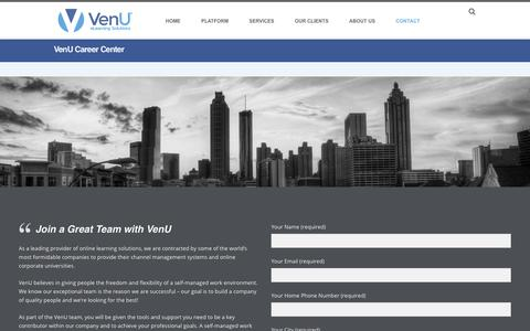 Screenshot of Jobs Page ven-u.com - VenU Career Center | VenU eLearning Solutions - captured Nov. 7, 2018