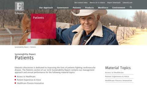Edwards 2016 Sustainability Report   Patients