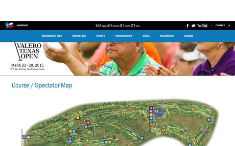 Screenshot of Maps & Directions Page valerotexasopen.com - Valero Texas Open - Course / Spectator Map - captured Oct. 9, 2014