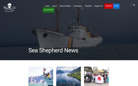 Screenshot of Press Page seashepherd.org - Sea Shepherd News – Sea Shepherd - captured Oct. 2, 2018