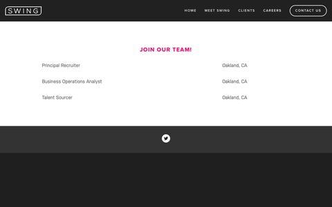 Screenshot of Jobs Page swingtalent.com - Careers — Swing Talent - captured Nov. 19, 2018