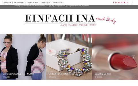 Screenshot of Home Page einfach-ina.de - EINFACH INA - captured May 29, 2016