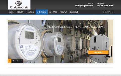 Screenshot of Case Studies Page chipmonk.in - Case Studies | Chipmonk Technologies - captured Oct. 2, 2014