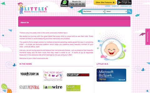 Screenshot of About Page little1.in - About Us - Little1 - captured Oct. 27, 2014