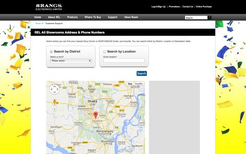 Screenshot of Support Page rangs.org - Rangs Electronics Limited - captured Oct. 31, 2014