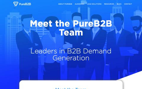 Screenshot of Team Page pureb2b.com - PureB2B - captured Feb. 10, 2019