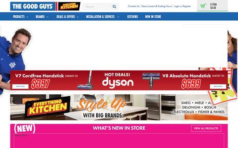 Screenshot of Home Page thegoodguys.com.au - The Good Guys - Online Electrical & Home Appliances - captured Sept. 21, 2018
