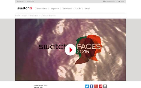 Swatch at Biennale Arte 2015 - Swatch® International