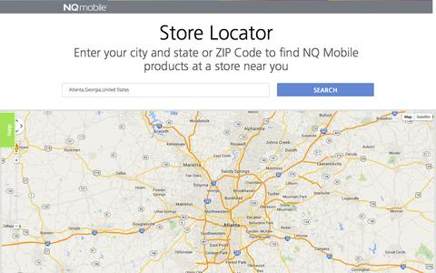 Screenshot of Maps & Directions Page nq.com - Retail Locator - NQ Mobile - captured Sept. 17, 2014