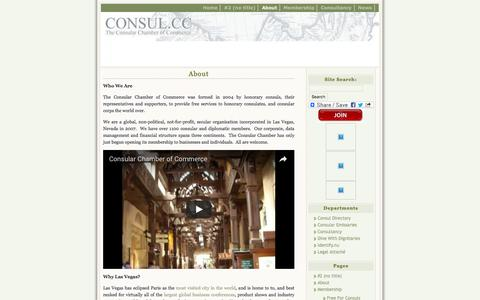 Screenshot of About Page consul.cc - About   Consular Chamber of Commerce - captured Dec. 25, 2016
