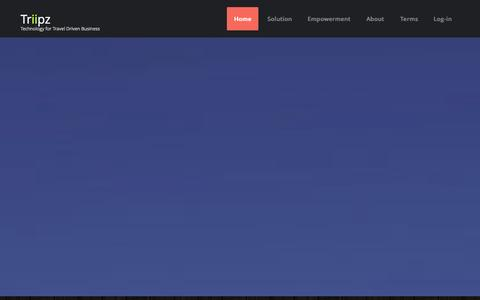 Screenshot of Home Page triipz.com - Triipz - captured Oct. 9, 2014