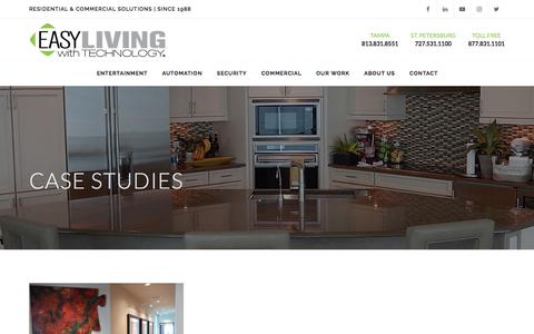Screenshot of Case Studies Page easyliving.net - EASYLiving with Technology - captured July 13, 2017