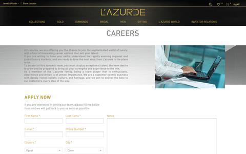 Screenshot of Jobs Page lazurde.com - Careers – L'azurde - captured Nov. 4, 2018