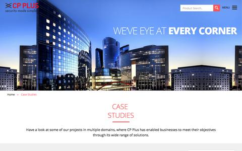 Screenshot of Case Studies Page cpplusworld.com - CP Plus :: Security Made Simpler - captured Jan. 23, 2016