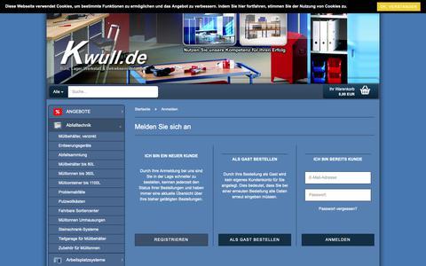 Screenshot of Login Page kwull.de - Kwull GmbH | Profi für Betriebseinrichtungen - Kwull GmbH | Profi für Betriebseinrichtungen - captured Oct. 16, 2018