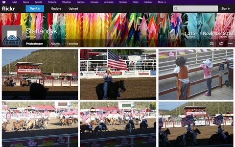 Screenshot of Flickr Page flickr.com - Flickr: stahancyk's Photostream - captured Nov. 5, 2014