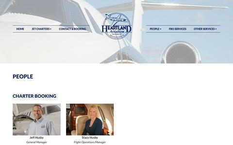 Screenshot of Team Page heartlandaviation.com - People, Heartland Aviation | Air Charter, Aircraft Maintenance, FBO Services - captured Nov. 6, 2016