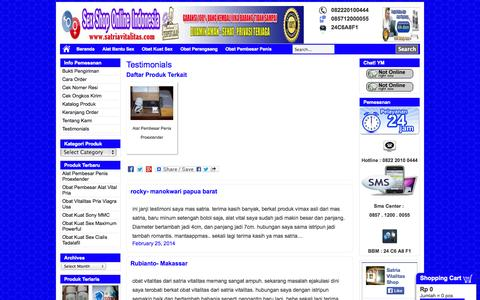 Screenshot of Testimonials Page satriavitalitas.com - Testimonials Satria Vitalitas | Testimonials Obat Vitalitas Pria - captured Oct. 31, 2014