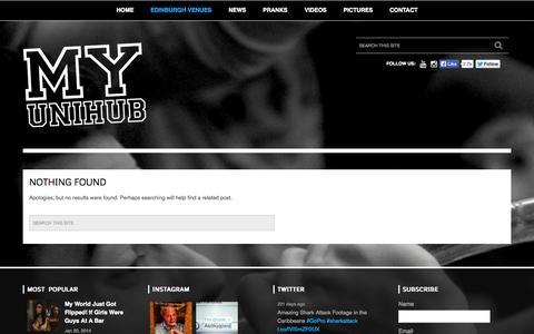Screenshot of Services Page myunihub.com - MyUniHub » Services - captured Oct. 26, 2014