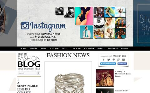 Screenshot of Press Page fashionone.com - Fashion One News - An international fashion and entertainment channel that focuses on beauty, glamour, style and luxury. - captured July 3, 2016