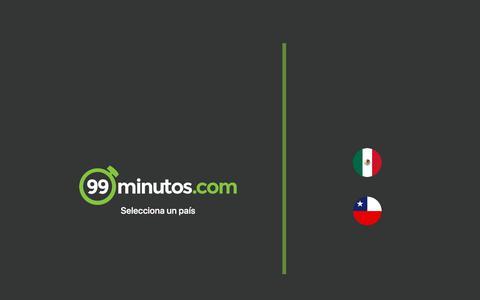 Screenshot of Home Page 99minutos.com - Selecciona tu país | 99Minutos - captured July 21, 2019