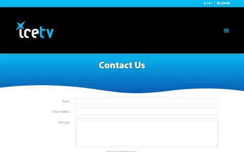 Screenshot of Contact Page icetv.com.au - IceTV: Australian Vendor and Retailer of Smart Recording Solutions - captured Dec. 10, 2018