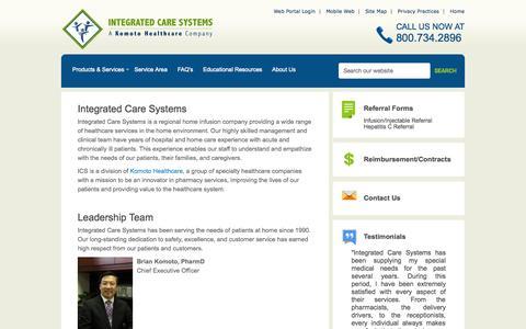 Screenshot of About Page icshomecare.com - Integrated Care Systems / Integrated Care Systems - captured Nov. 5, 2014