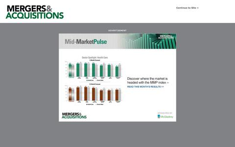 Screenshot of Home Page themiddlemarket.com - Mergers & Acquisitions - captured Oct. 7, 2015