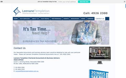 Screenshot of Contact Page newcastle-accountants.com.au - Newcastle Accountants, King Street | Newcastle Accountants - captured Sept. 28, 2018