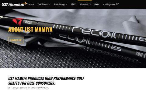 Screenshot of About Page ustmamiya.com - About UST Mamiya - captured July 26, 2018