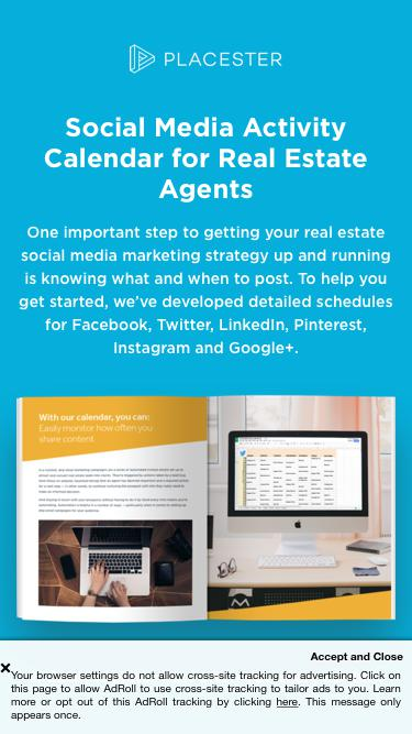 Social Media Activity Calendar for Real Estate Agents | Placester