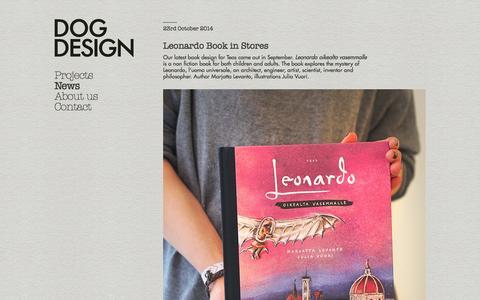 Screenshot of Press Page dogdesign.fi - News / Dog Design - captured Oct. 29, 2014