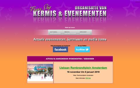 Screenshot of Home Page kermisplaza.nl - Frans Stuy Evenementen- en kermisorganisatie - captured Dec. 10, 2018