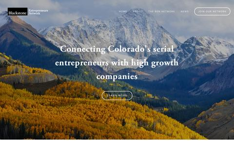 Screenshot of Home Page About Page Contact Page bencolorado.com - Blackstone Entrepreneurs Network - captured Oct. 5, 2014
