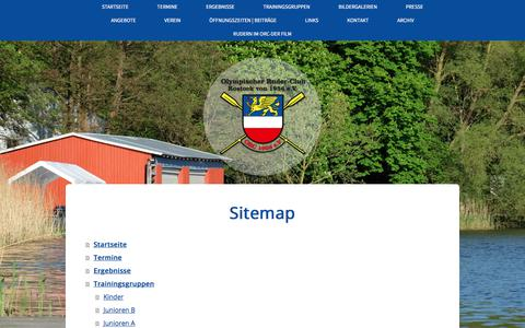 Screenshot of Site Map Page jimdo.com - Sitemap - Olympischer Ruderclub Rostock v. 1956 e.V. - captured May 5, 2018