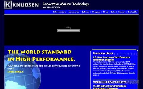 Screenshot of Home Page knudsenengineering.com - Knudsen Engineering Limited - The 5th Extraordinary International Hydrographic Conference - captured Oct. 6, 2014