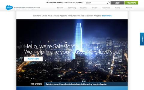 Screenshot of About Page salesforce.com - About us - Salesforce.com - captured Nov. 4, 2015