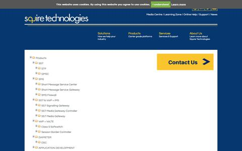 Screenshot of Site Map Page squire-technologies.co.uk - Sitemap - Squire Technologies   Telecoms Signalling Specialists - captured Oct. 19, 2018