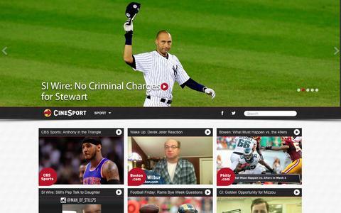 Screenshot of Home Page cinesport.com - CineSport - captured Sept. 26, 2014
