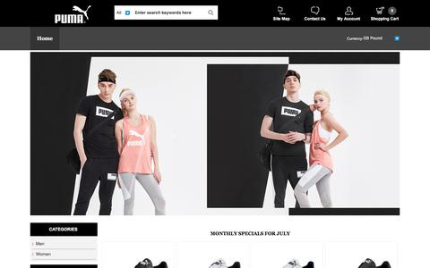 Screenshot of Home Page earth-energies.co.uk - Puma official store | Puma discount offer - captured July 15, 2018