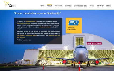 Screenshot of About Page dtwo.com.au - About - dtwo.com.au - captured Oct. 5, 2014