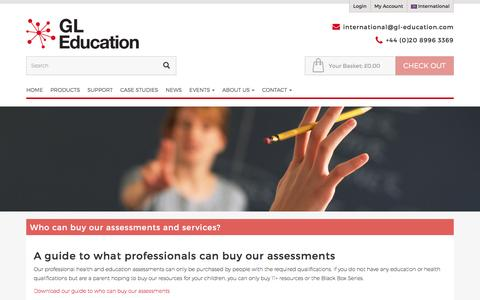 Who can buy our assessments and services?